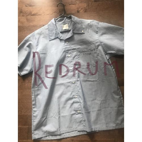Hadden Clark original signed prison DoC  xL - shirt with original photograph wearing this shirt from 2016