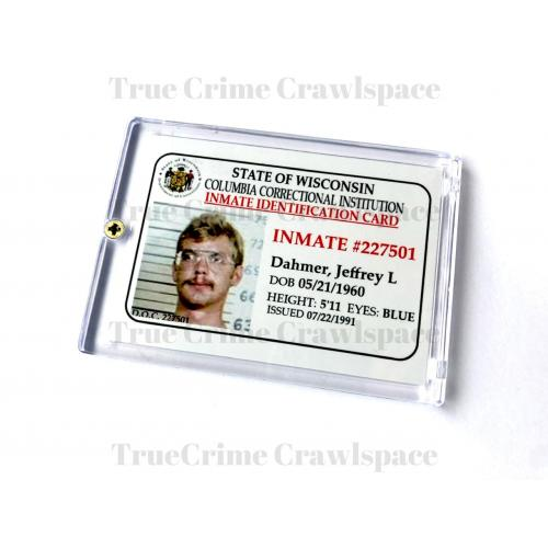 "Jeffrey Dahmer ""Milwaukee Cannibal"" Inmate ID Card In Collector's Case * Prototype By Horrible Humans Crime Cards"