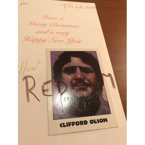 Clifford Olson n.199 Eclipse True Crime Series Four: Serial Killers signed card from 1992