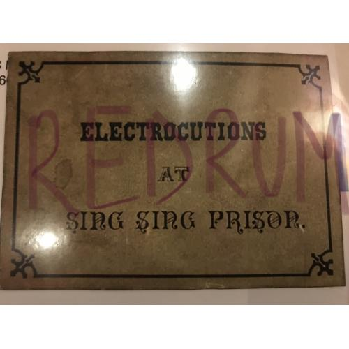 Electrocutions at Sing Sing Prison plaque beside the execution room 1930's