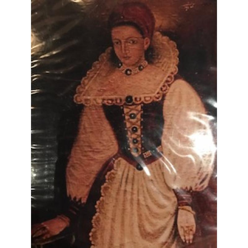 Elisabeth Bathory 4 x 6 photograph of an early painted portrait of hers