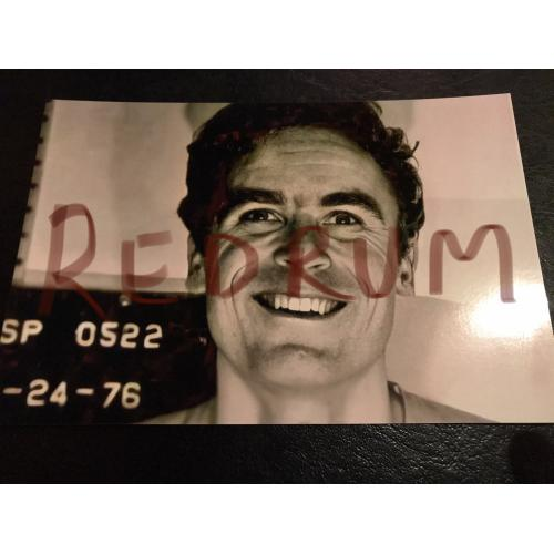 Great Ted Bundy of center 4 x 6 mugshot photograph with smile from 1976