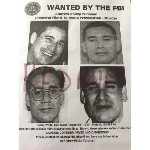 Andrew Cunanan 8.5 x 11 Wanted by the FBI poster no.2