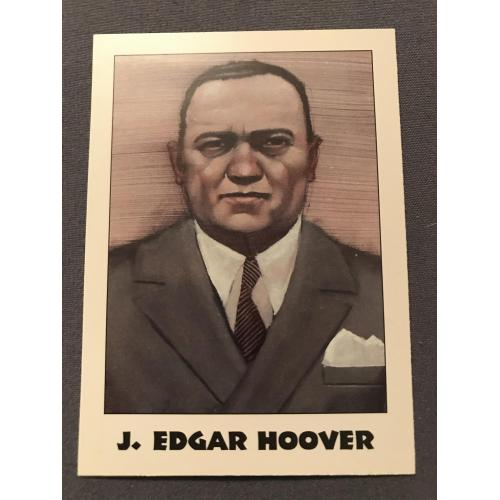 J. Edgar Hoover True Crime card éclipse série I no. 28 from 1992