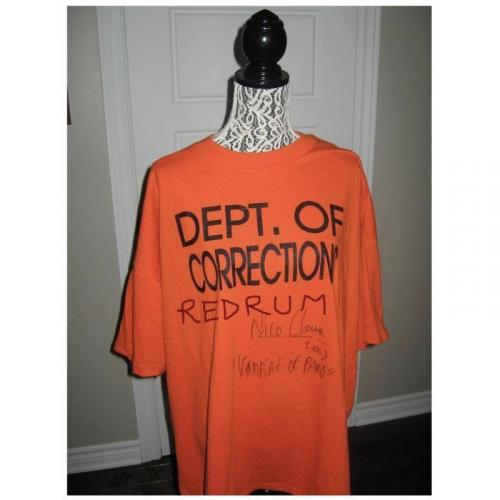 Nico Claux worn Dept Of Corrections T-shirt signed Nico Claux from 2003
