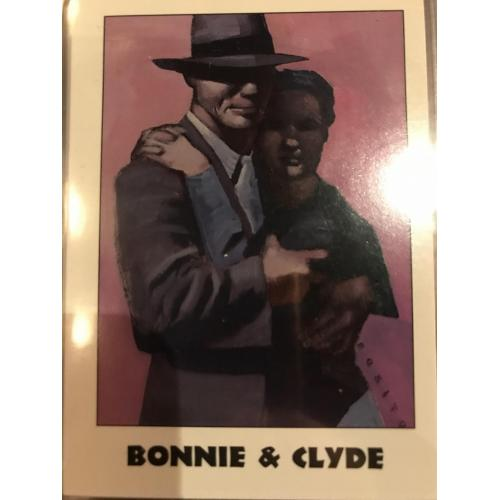 Bonnie and Clyde éclipse card no. 33 série I from 1992