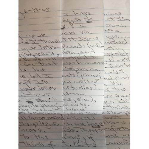 EXECUTED SERIAL KILLER CARLTON MICHAEL GARY HANDWRITTEN 3 PAGE LETTER   ORIGINAL ENVELOPE