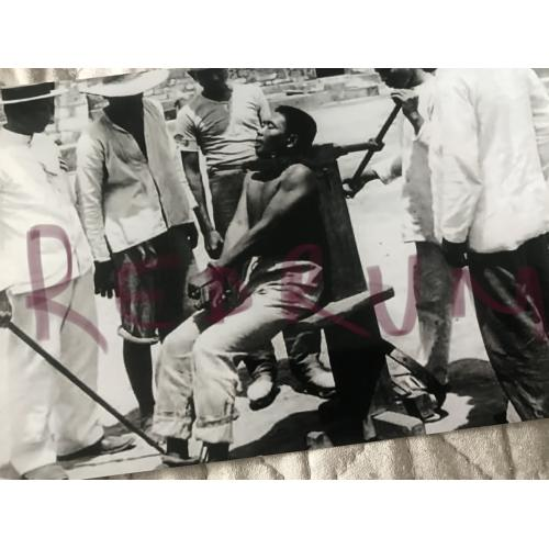 Execution 4 x 6 photograph by garrot early 1900's