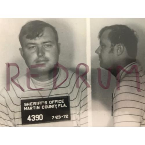 Gerard Schaefer 4 x 6 mugshot photograph from 1972