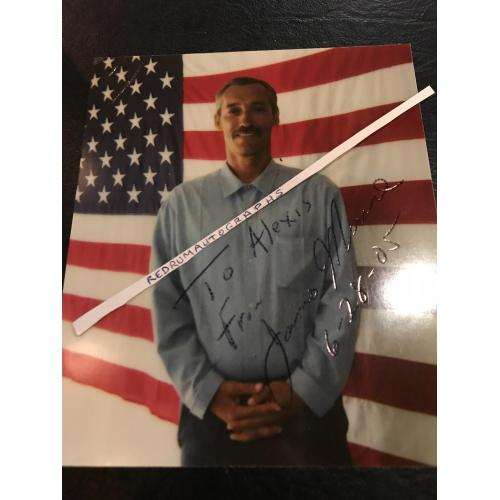 James Munro Freeway killer accomplice signed 4 x 4.5 photograph from 2005