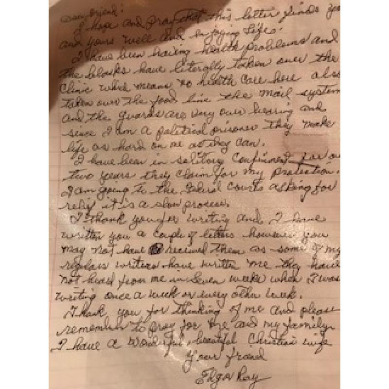 Edgar Ray Killen original handwritten one page letter from 2007