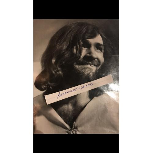 Charles Manson 7.5 x 8 original first generation photograph from 1970