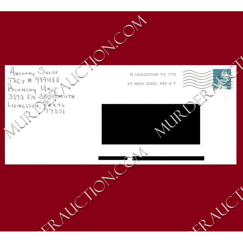 Anthony Shore letter/envelope 11/14/2005 EXECUTED