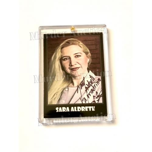 "SIGNED! Sara Aldrete ""The Narcosatanist"" Serial Killer, True Crime Card In Collector's Case"