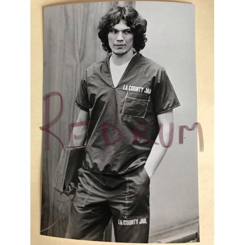 Richard Ramirez 4 x 6 court appearance in prison suit from the 1980's