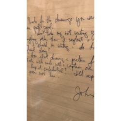 John Hinckley handwritten letter seized by the United States Secret Service used in court against him 1980's