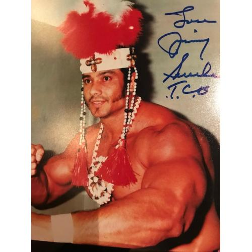Deceased- Jimmy Snuka original 8 x 10 photograph signed Jimmy Snuka
