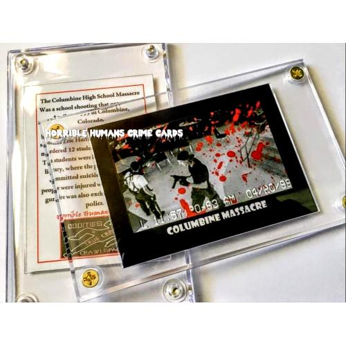 COLUMBINE MASSACRE * HORRIBLE HUMANS CRIME CARD