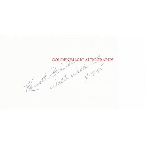 KENNETH BIANCHI signed and dated 3x5 Index Card