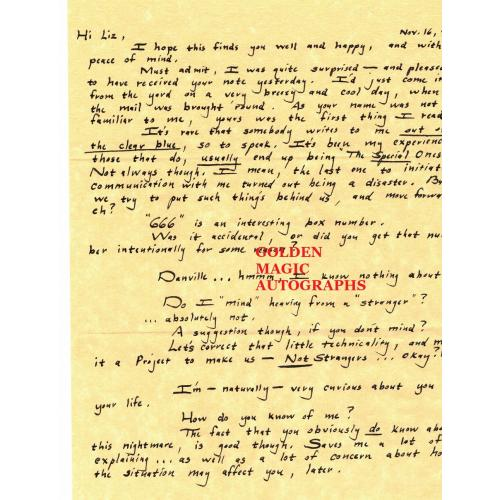 BOBBY JOE LONG 9 PAGE LETTER