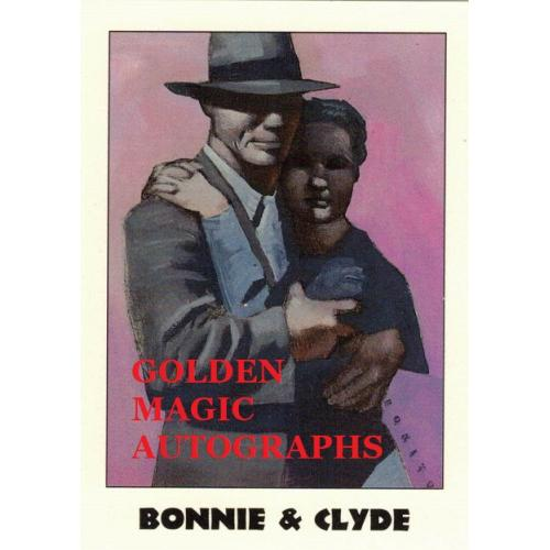 BONNIE AND CLYDE  TRUE CRIME CARD