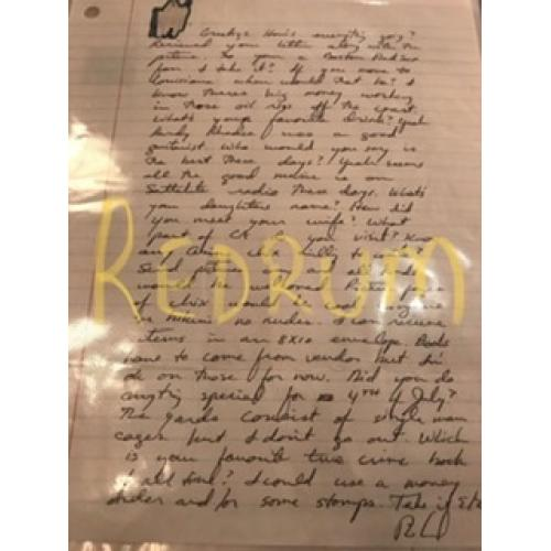 Richard Ramirez handwritten letter with original envelope from 2006