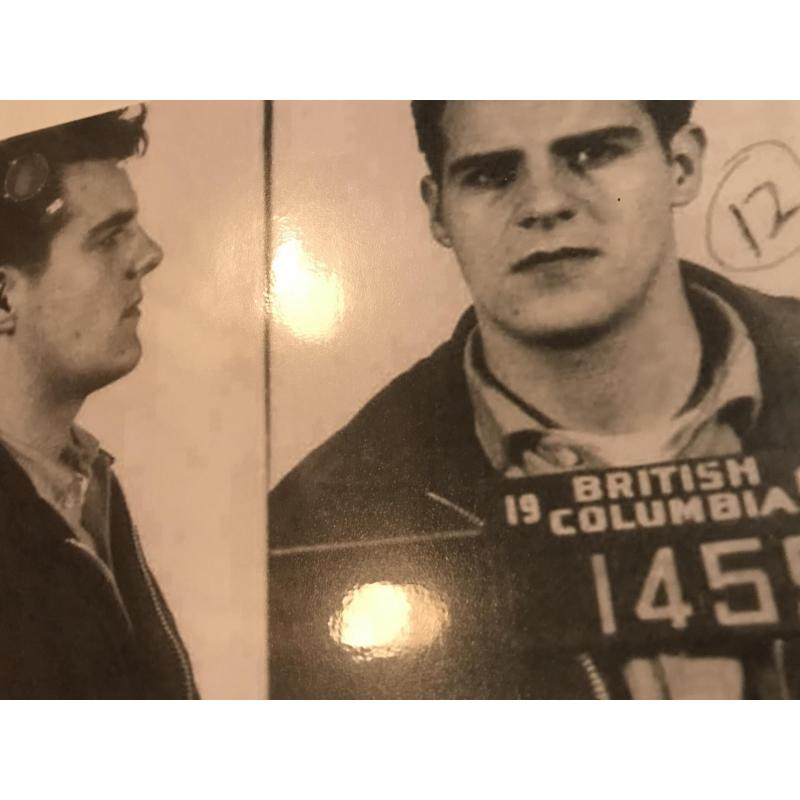 Deceased- Clifford Olson early mugshot reprint from British Columbia 1962