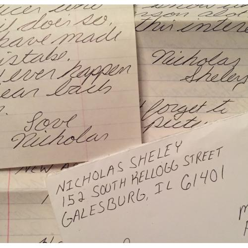 SPREE KILLER NICHOLAS SHELEY 7 PAGE HANDWRITTEN LETTER/ENVELOPE SET FROM JAIL