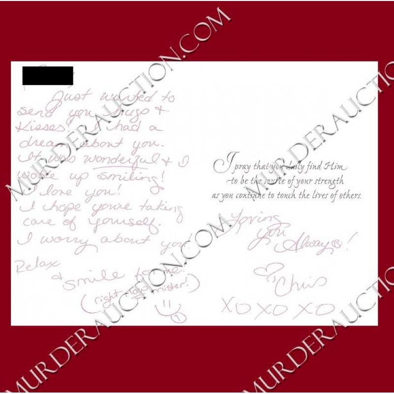 CHRISTA PIKE card/envelope 5/4/2000