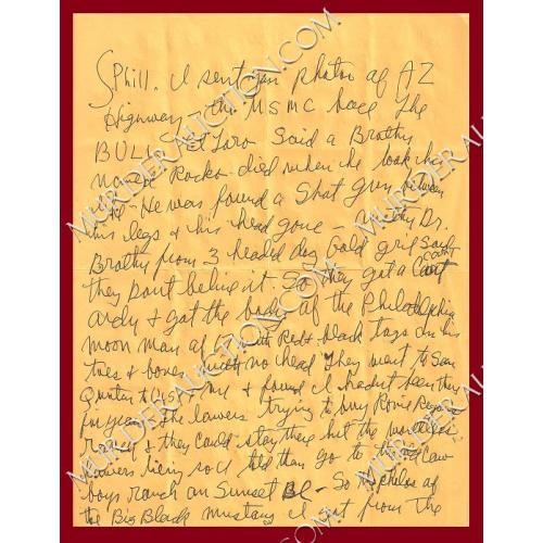 CHARLES MANSON letter/envelope 4/10/2006 DECEASED