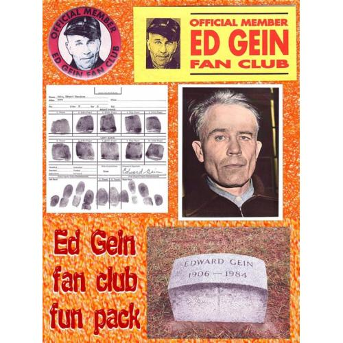Edward Gein fingerprint chart copy on 8 x 8 from his arrest late 1950's