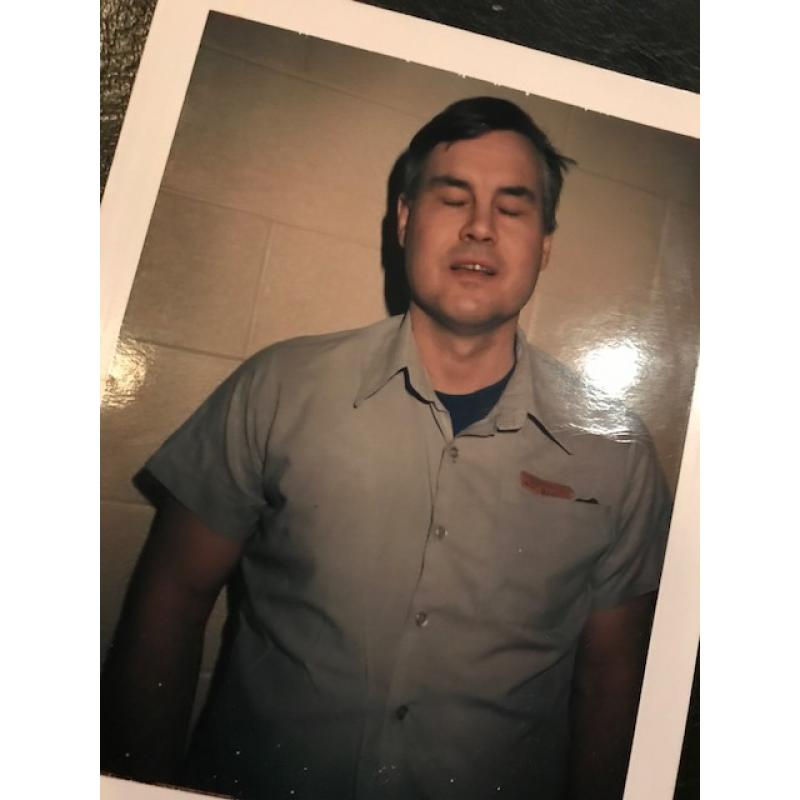 Deceased- Thomas Dillon prison Polaroid from late 1990's