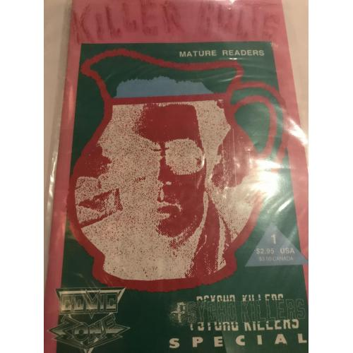 Killer Cults Psycho Killers Special Jim Jones comic book no.1 from Comic Zone 1992
