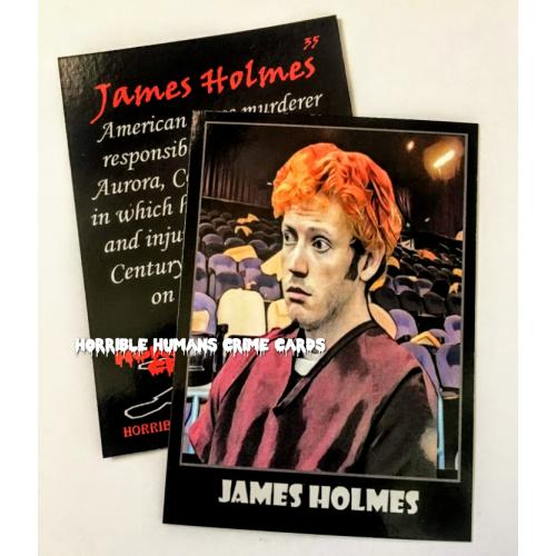 JAMES HOLMES * Horrible Humans Crime Cards Series 3