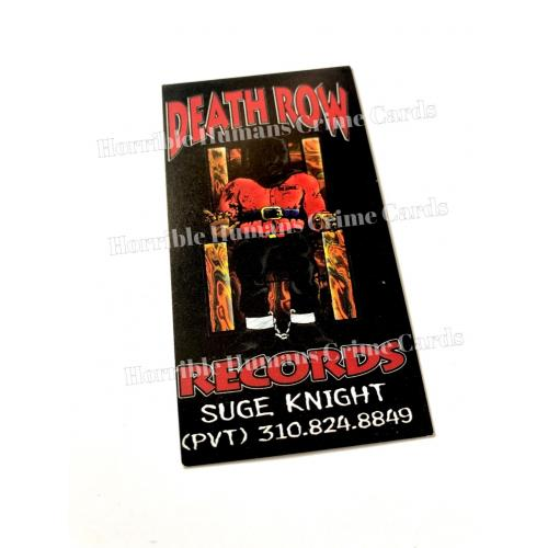 DEATH ROW RECORDS ORIGINAL BUSINESS CARD * Suge Knight Personal Property