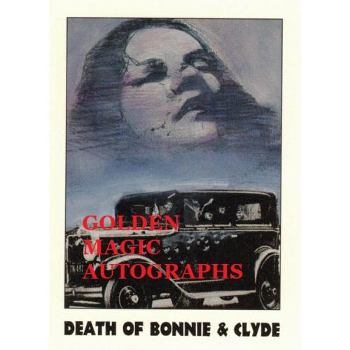 DEATH OF BONNIE AND CLYDE  TRUE CRIME CARD