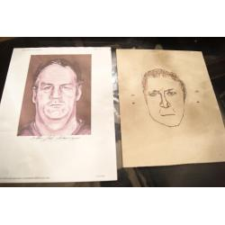 Arthur J. Shawcross original sketch marker of his police drawing when the were looking for the Genessee River Killer