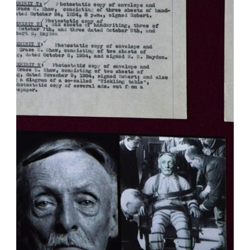 Albert H Fish ⚡️⚡️ULTRA RARE!!! The Original 1930s 3 pages court document with listed proofs that lead to execution