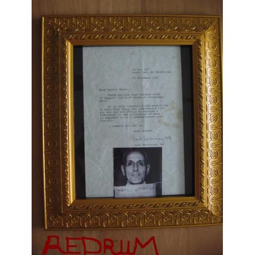 Dr. Jack Kevorkian rare TLS to Dr. Mark from November 1993