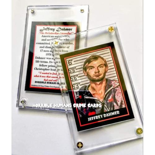 JEFFERY DAHMER Milwaukee Cannibal Horrible Humans Crime Card