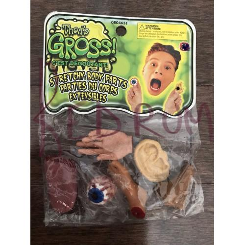 Gross stretched body parts extensibles 6 different ones - unopened