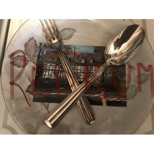 Armin Meiwes Rotenburg Cannibal plate and silver utensils used from his Mansion in Germany