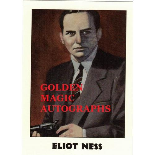 ELIOT NESS TRUE CRIME CARD