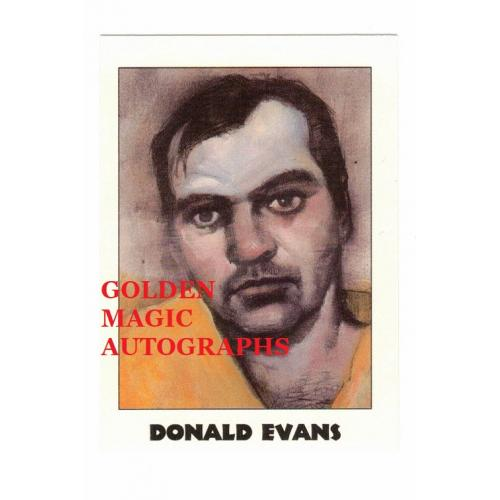 DONALD EVANS - TRUE CRIME CARD