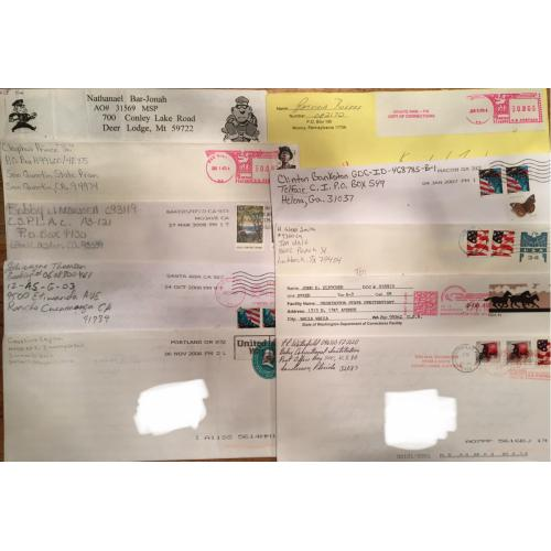 KILLER LOT: 10 DIFFERENT ENVELOPE/LETTER SETS