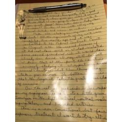 Deceased - Carol Bundy handwritten 3 pages letter with original artwork  signed from 1997