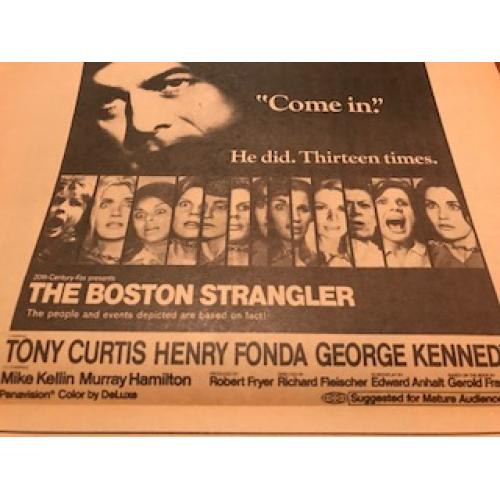 The Boston Strangler promotion herald newspaper from 1968
