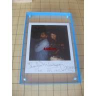 Charles Manson THE MAC AND TRACK original signed beautiful polaroid from 1995