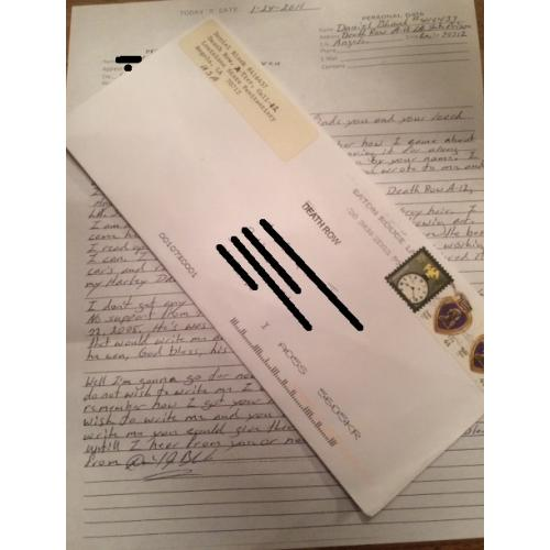 SERIAL KILLER DANIEL BLANK ENVELOPE AND LETTER SET