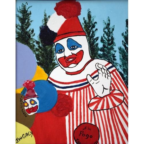 John Wayne Gacy -- Pogo the Clown Oil Painting